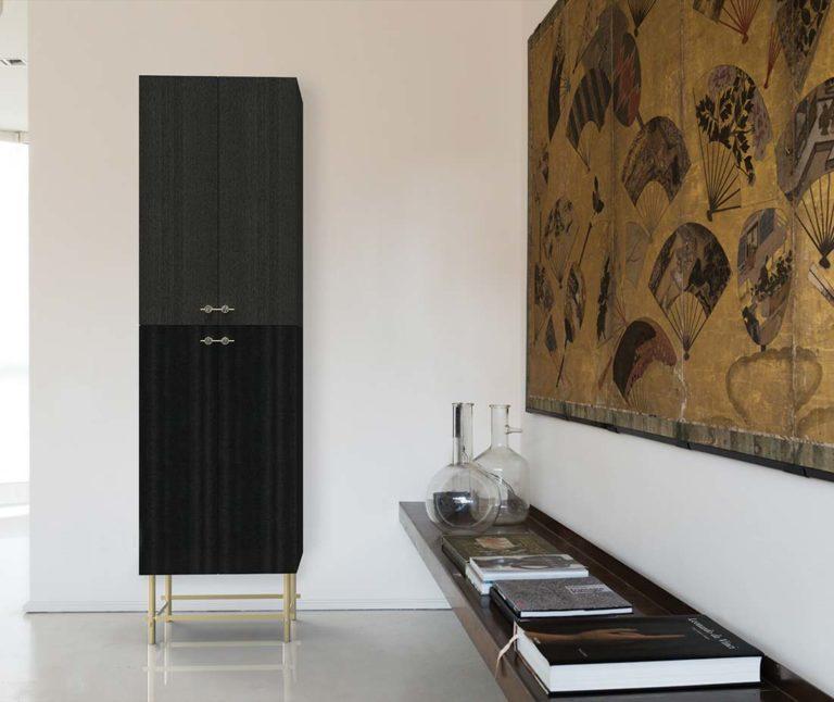 Sarita mobile contenitore nero mobili di lusso Antes Design