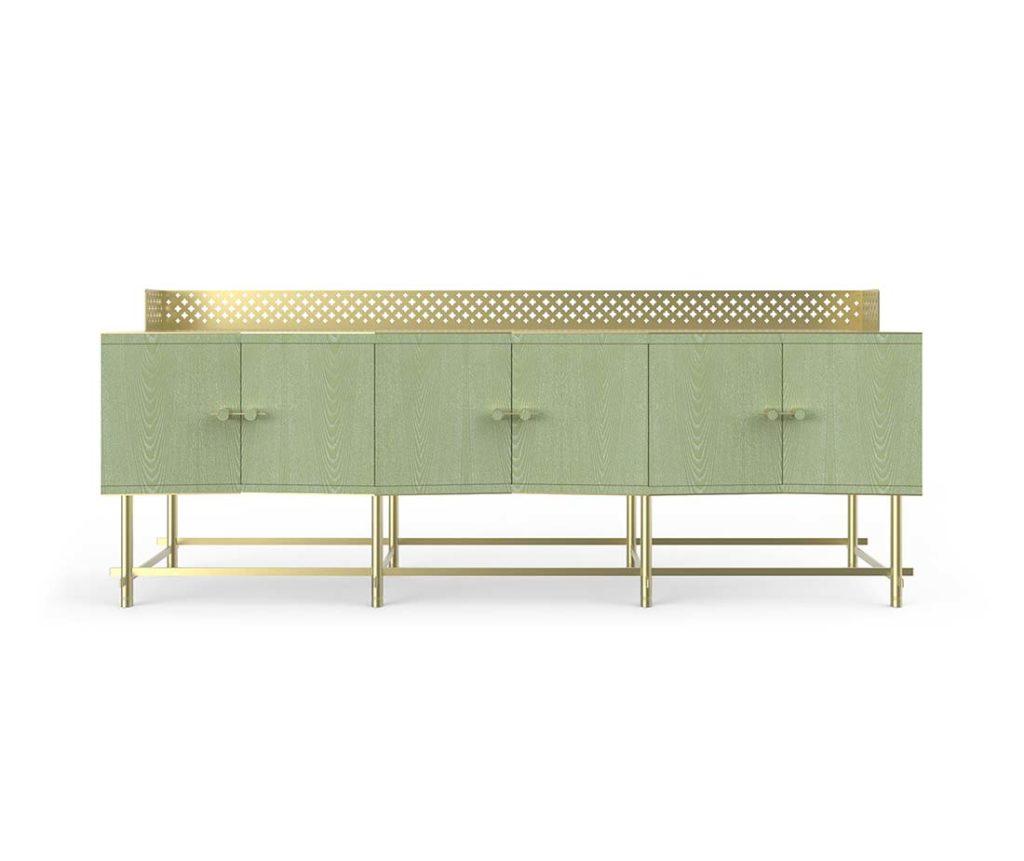 Mobile cabinet shanti composizione color verde