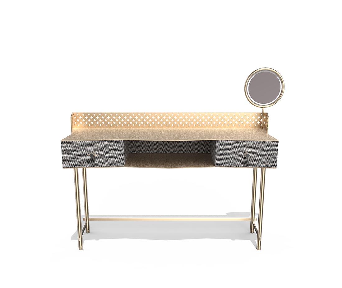 Mobile da trucco antes design Gita, colore legno effetto tessuto