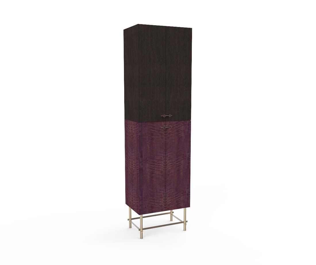 Mobile Contenitore Sarita doppio colore piedi in ottone
