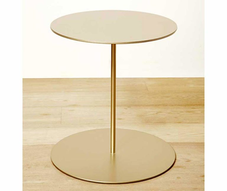 Tavolino Tray color oro mobili di lusso Antes Design
