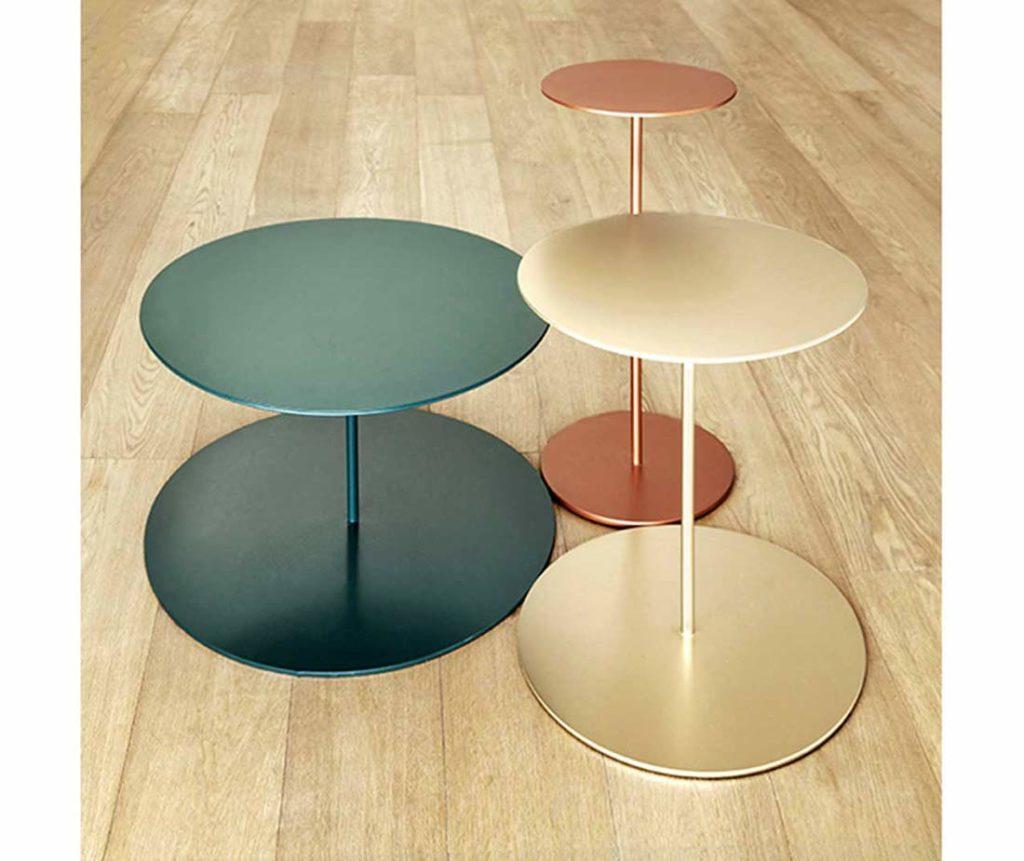 Tavolini Tray diversi colori mobili di lusso Antes Design