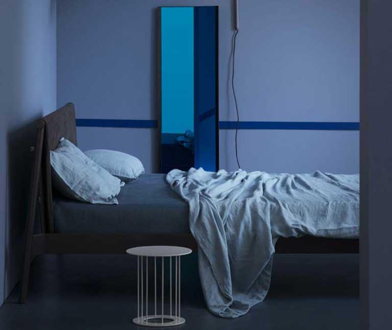 Drop table bianco in camera da letto Antes Design